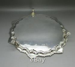 Antique Victorian Fine Quality Solid Sterling Silver Salver 27.2cm London 1894