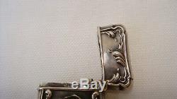 Antique Victorian Flowing Nude Sterling Silver Match Safe Holder Vesta Art