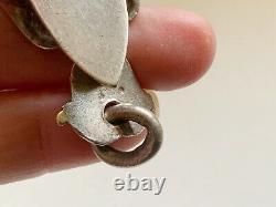 Antique Victorian Gorham Sterling Chatelaine Purse Belt Clip Holder Cherub Bird