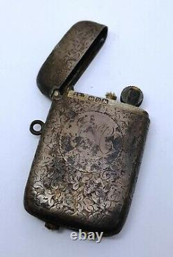 Antique Victorian Lighter Sterling Silver Birmingham 1894