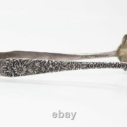 Antique Victorian S. Kirk & Sons Repousse Sterling Silver Ice Serving Tongs