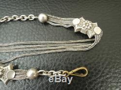 Antique Victorian Solid Silver Albertina / Albert Pocket Watch Chain Tassel Fob