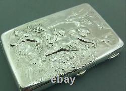 Antique Victorian Solid Silver Card Case Sampson Mordan