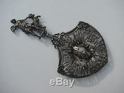 Antique Victorian Sterling Hallmarks 925 Sugar Sifter Bonbon Spoon Greek Artemis