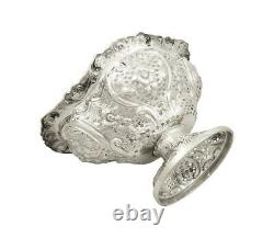 Antique Victorian Sterling Silver 10 Pierced Dish / Bowl 1892