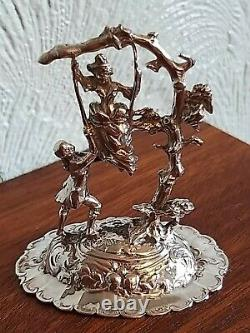 Antique Victorian Sterling Silver Figural Model (chester 1899)