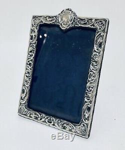Antique Victorian Sterling Silver Photo Frame Hallmarked 1898 Birmingham