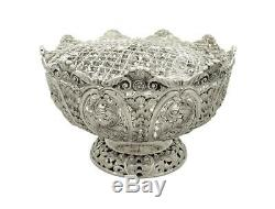 Antique Victorian Sterling Silver Rose Bowl 1896