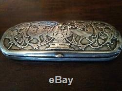 Antique Victorian Sterling Silver Spectacles Glasses Case