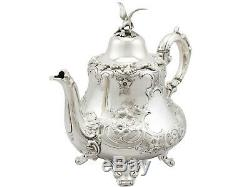 Antique Victorian Sterling Silver Teapot 1856 733g Height 22.3cm Width 15.3cm