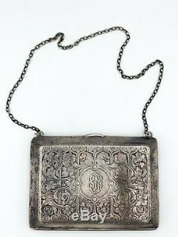 Antique Victorian William B Kerr Sterling Silver Coin Dance Purse! 143