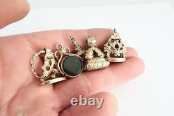 Antique / Vintage Pocket watch chain fobs