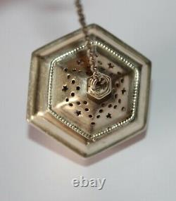 BAILEY BANKS & BIDDLE Antique Ornate Sterling Silver Tea Ball Infuser Strainer
