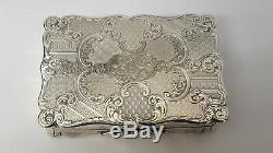Beautiful Large Table Snuff Box Birmingham 1855