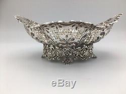 Beautiful Solid Silver Victorian Pierced Bowl James Dixon & Sons Sheffield 1893