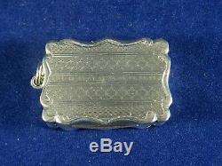 Beautiful Victorian Solid Silver Vinaigrette Birmingham 1859 by Frederick Marson