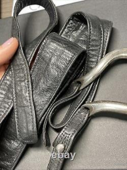Black Leather Sterling Silver Elsa Peretti Tiffany & Co. Wrap Around Belt 46