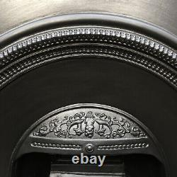 Cast Iron Fireplace / Fire Surround / Insert / Victorian Arch Style / Solid Fuel