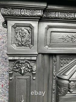 Cast Iron Fireplace / Fire Surround / Insert / Victorian Style / Solid Fuel