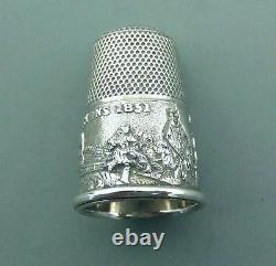 EXCELLENT CASED Victorian SILVER THIMBLE GREAT EXHIBITION 1851