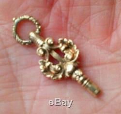 Early Victorian 15 Ct Solid Gold Pocket Watch Key LOVELY Pendant VGC
