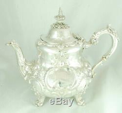 Early Victorian Silver Teapot D & C Houle London 1853 855g EZX