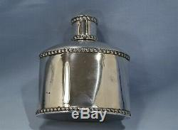 English by Maurice Freeman Sterling Silver Tea Caddy Circa 1900 London