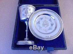 Excellent Victorian Sterling Silver Travelling Communion Set 1860, Boxed
