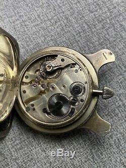 Fancy Theodore B Starr / William Kerr Sterling Silver Cased Travel Watch Clock