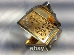 Fine Quality Antique 1844 Victorian Edward Smith Hm Silver/gilt Vinaigrette