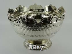 Fine Victorian Solid Sterling Silver Monteith Fruit Punch Bowl London 1883 878g
