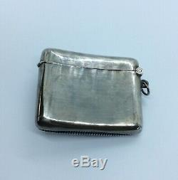 Fine antique Solid sterling silver cherub vesta case