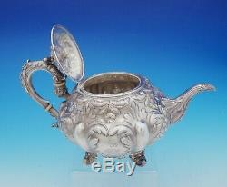Francis David Dexter English Victorian Sterling Silver Tea Set 3pc (#3645)