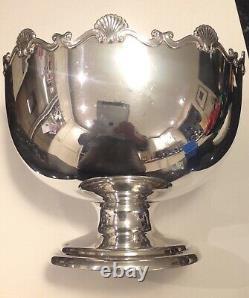 George V Sterling Silver Punch Bowl, hallmarked Mappin & Webb, Birmingham, 1910