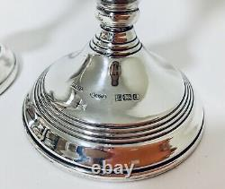 Good Quality Pair of Vintage Sterling Silver Candlesticks Candle Holders
