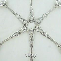 Good Sterling Silver Set Of Six Kings Pattern Dessert Spoons London 1853