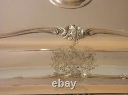 Heavy Victoria Elkington Armorial Lucas 1852 Huge Silver Entree Dish 1884 grams
