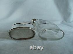 Hip Flask Victorian Cut Glass And Sterling Silver London 1895