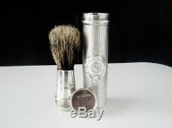Immaculate Antique Silver Shaving Brush, London 1868, Thomas Whitehouse