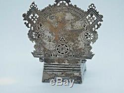 Imperial Russian silver chair salt box by Aleksandr Fuld Moscow 1915