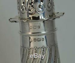 Impressive 1897 Victorian Solid Silver Sugar Sifter Caster Castor