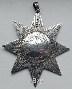 Interesting Victorian Silver Large Star Medal Named Poss Reform Act Club