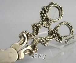 Irish Solid Silver Grape Shears Scissors Dublin 2001 Rare