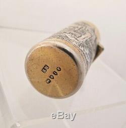 Kate Greenaway silver-gilt scent bottle SAMPSON MORDAN London 1884