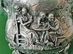 Large Antique Victorian Silver Teniers Bowl 1872
