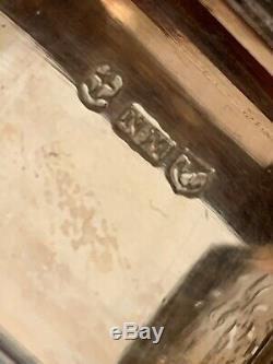 Large Antique Victorian Silver Vinaigrette Nathaniel Mills Birmingham 1842