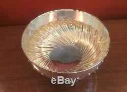 Large Edwardian solid silver bowl by Robert Pringle London 1901