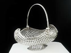 Large Silver Swing Handled Basket, 1897 Holland, Aldwinckle & Slater