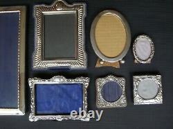 Lot 7 Antique Victorian Sterling Silver. 925 Frames Williams CV & Co British