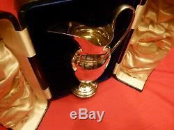 Lovely Rare Cased Victorian Solid Silver Claret Jug / Wine Ewer. Edward Barnard